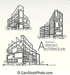 astratto, architettonico