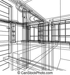 astratto, architettura, disegno