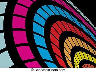 astratto, arcobaleno, arco