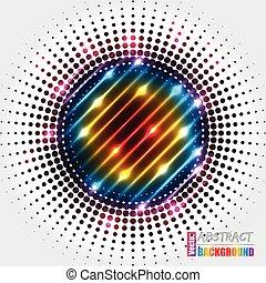 astratto, arcobaleno, fondo, halftone, colori