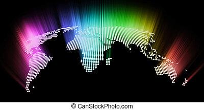 astratto, ardendo, ciao-tecnologia, mappa mondo