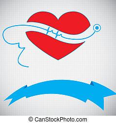 astratto, bac, medico, ekg, cardiologia