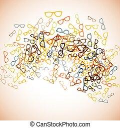 astratto, background:, occhiali