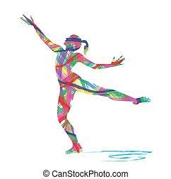 astratto, ballerino