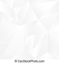 astratto, bianco, geometrico, fondo., vettore, illustrazione