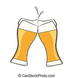 astratto, birra, delizioso