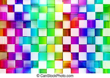 astratto, blocchi, colorito, fondo