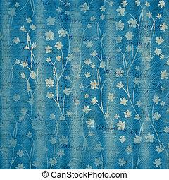 astratto, blu, floreale, fondo, per, coperchio, o, album