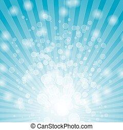 astratto, bokeh, su, sfondo blu