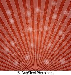 astratto, bokeh, su, sfondo rosso