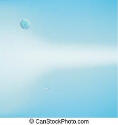 astratto, bolle, fondo, water.