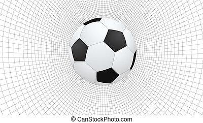 astratto, calcio, wireframe, palla