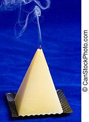astratto, candela, fumo