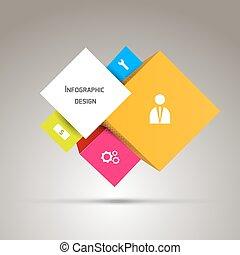 astratto, carta, disegno, infographics, tuo, 3d