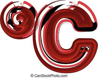 astratto, celcius, simbolo