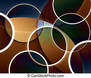 astratto, cerchio, fondo