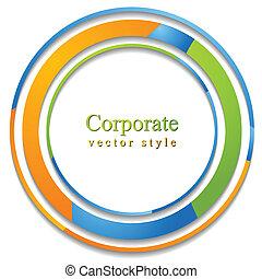 astratto, cerchio, logotipo, fondo
