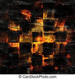 astratto, checkered, grunge, fondo