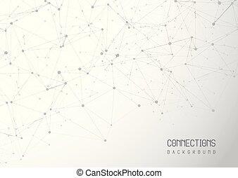 astratto, collegamenti, fondo
