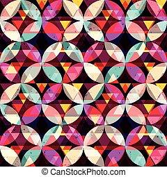 astratto, colorato, seamless, fondo, geometrico