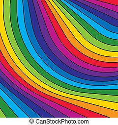 astratto, colorito, arcobaleno, stripes., vector.