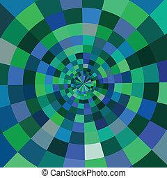 astratto, colorito, fondo, circolare