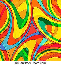 astratto, colorito, fondo, da, uno, multi-colored, vetro,...