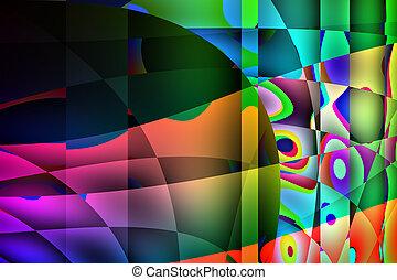 astratto, colorito, fondo, illustrazione