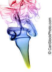 astratto, colorito, fumo, forma, bianco