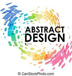 astratto, colorito, geometrico, fondo, circolare
