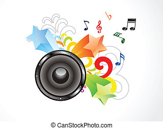 astratto, colorito, musica, carta da parati
