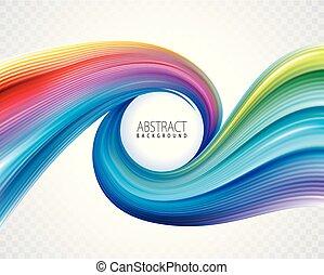 astratto, colorito, spirale, fondo
