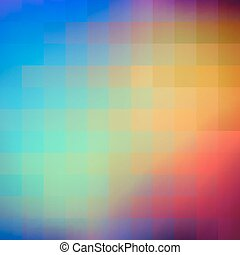 astratto, colorito, squares., fondo