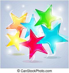 astratto, colorito, stelle