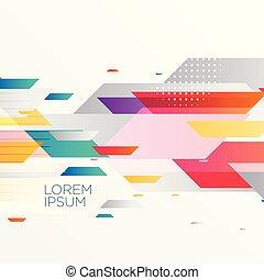 astratto, colorito, stile, fondo, geometrico