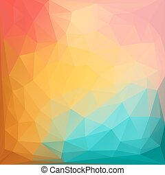 astratto, colorito, triangoli, fondo