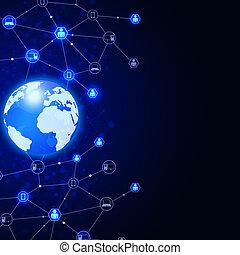 astratto, comunicazioni globali