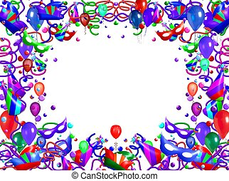 astratto, cornice, balloon