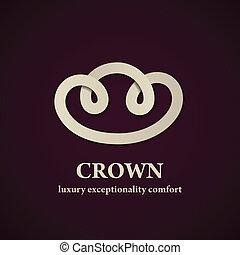 astratto, corona, vettore, disegno, sagoma, simbolo