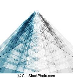 astratto, costruzione, concept., 3d, interpretazione