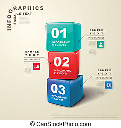 astratto, cubo, 3d, infographics