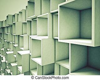 astratto, cubo, fondo, 3d