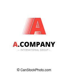 astratto, dinamico, creativo, vettore, lettera, minimalistic, logotipo