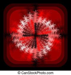 astratto, disegno spirale, fondo, rotazione, movimento