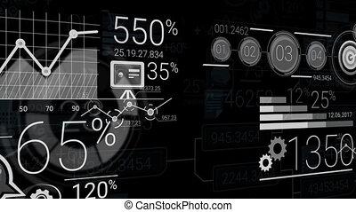 astratto, elementi, di, infographics, con, canale alfa