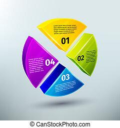 astratto, elementi, disegno, affari, infographics
