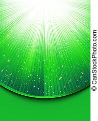 astratto, eps, stars., sfondo verde, 8