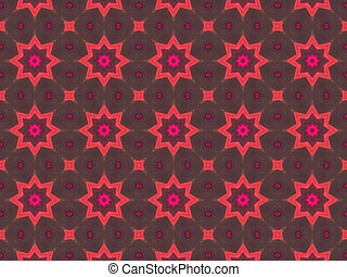 astratto, etnico, pattern., caleidoscopio