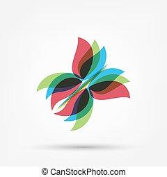 astratto, farfalla, forma