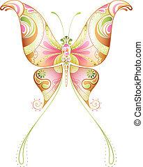 astratto, farfalla